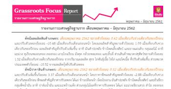 ภาวะเศรษฐกิจฐานราก เดือนพฤษภาคม - มิถุนายน 2562
