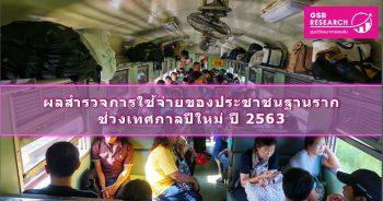 การใช้จ่ายของประชาชนฐานรากช่วงเทศกาลปีใหม่ ปี 2563