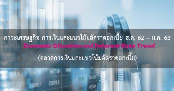 ภาวะเศรษฐกิจ การเงิน และแนวโน้มอัตราดอกเบี้ย ประจำเดือนธันวาคม 2562 - มกราคม 2563 (ตลาดการเงินและแนวโน้มอัตราดอกเบี้ย)