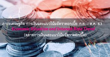 ภาวะเศรษฐกิจ การเงินและแนวโน้มอัตราดอกเบี้ย ประจำเดือนกันยายน - ตุลาคม 2563 (ตลาดการเงินและแนวโน้มอัตราดอกเบี้ย)